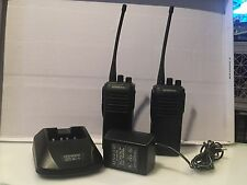 KENWOOD TK-360 UHF PORTABLE RADIOS * LOT OF 2 * WITH RAPID CHARGER *