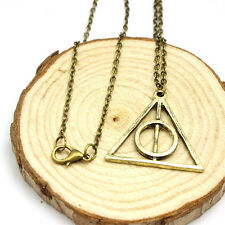 Hot movie harry potter -deathly hallows metal Bronze Pendant Women Men necklace