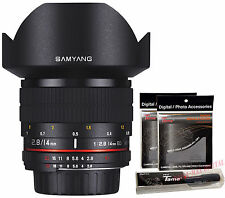 Samyang 14mm F2.8 ED AS UMC f/2.8 Ultra Wide Angle DSLR Lens for Nikon AE + Gift