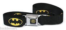 Official DC Comics BATMAN Seatbelt Seat Belt Buckle BuckleDown BLACK YELLOW