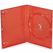 1 Single Standard Red DVD Case 14 mm Spine New Empty Replacement Amaray Cover