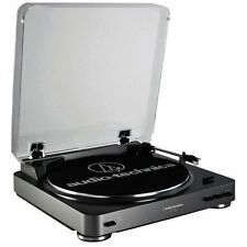 Audio Technica AT-LP60BK-USB Turntable Usb & Analog Black Perp Direct Drive Mac
