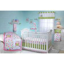 Taggies Owl Collection  3 piece Crib Bedding set - polka dots   Hard to Find