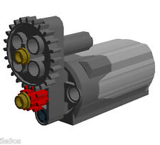 Lego Power Functions M-Motor with SPEED Reducer /  POWER Increase Gears assembly