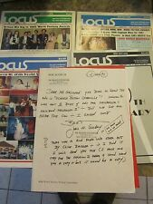 Vintage Locus The Newspaper of the Science Fiction Signed letter 1985 and 1988