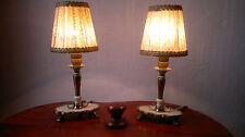 antike Tischlampe, Stehlampe, Glasperlen Lampenschirm, Klemmschirm