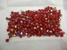 72 Swarovski crystal bicone beads 6mm Dark Red Coral AB #5301