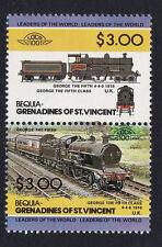 BEQUIA LOCO 100 GEORGE THE FIFTH LOCOMOTIVE STAMPS MNH