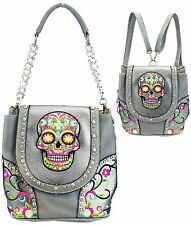 Montana West Sugar Skull Collection Handbag/Backpack