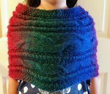 hand-knitted  elegant mohair simple  infinity scarf