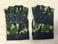 Camouflage Gloves Weight Lifting Grappling MMA Bodybuilding Fighting Size M/L