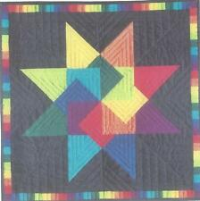 Rainbow Card Trick quilt pattern by Ann Lainhart of The Quilted Gallery