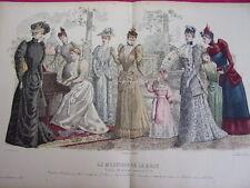 """75/ GRAVURE DE MODE """" Moniteur de la Mode Paris 1891 """".   Grand format 36x52"""