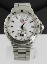 Tag Heuer Mens WAU1113.BA0858 Formula 1 White Dial Stainless Steel Date Watch