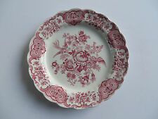 "Ridgway China Windsor Pink 9 7/8"" Dinner Plate Floral&Birds StaffordshireEngland"