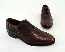 Halbschuhe SHOEPASSION Business Oxford Eidechsen-Leder braun Gr. 7 = 41