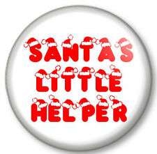 "Santa's Little Helper 25mm 1"" Pin Button Badge Father Christmas Claus Xmas Elf"