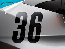 "Racing Number 2pcs BLACK 6"" Custom Car Decal Window Decal Sticker Vinyl  Decals"