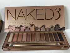 URBAN DECAY NAKED 3 Eyeshadow Palette with Double Ended Brush - NEW IN BOX