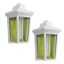 White Exterior Fluorescent Wall Light  2 Pack