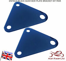 NEW ROYAL ENFIELD Motorcycle spare BLACK GEAR BOX PLATE BRACKET KIT PAIR - RE601