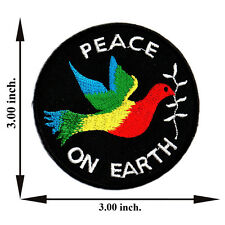 Peace On Earth Dove Rainbow Symbol Sign Love Logo Applique Iron on Patch Sew