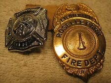 2 Roselle Park,New Jersey fire dept. Badges.