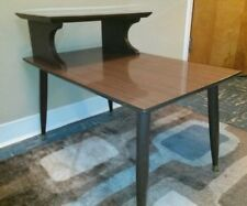 VTG Mid Century Danish Modern End Table Side Night Stand Walnut Mint