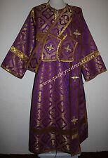 Deacon Greek Orthodox Vestment Nonmetallic Purple Gold