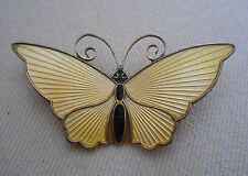 Sterling Silver David Anderson Norway Yellow Enamel Butterfly  Brooch   350.011