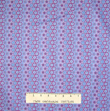 Circle Fabric - Butterflies Purple & Blue Stripe - Lyndhurst OOP YARD