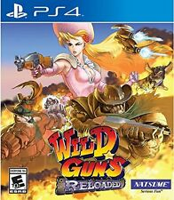 Wild Guns: Reloaded (Sony PlayStation 4, 2016) BRAND NEW / Region Free