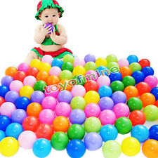300 pc Colorful Ball Pit Balls Fun Ball Soft Plastic Cool Ocean Swim Toy game