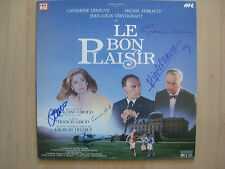"Le bon plaisir ""Georges Delerue"" Autogramme signed LP-Cover ""Soundtrack"" Vinyl"