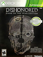 Dishonored-Game of the Year Edition (Microsoft Xbox 360, 2013) Platinum Hits VGC