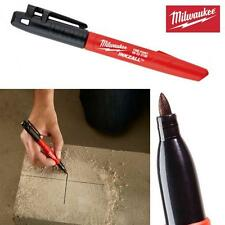 MILWAUKEE 1mm INKZALL FINE TIP MARKER PEN BLACK PERMANENT DUST WET OILY SURFACES