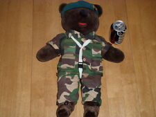 "U. S. ARMY - SPECIAL FORCES - TEDDY  BEAR (20""+ INCHES TALL), VINTAGE:1980 yrs."