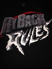 Ryback Rules Size 2XL Men's New WWE WWF T-Shirt With Rubber Bracelet