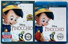 DISNEY PINOCCHIO BLU RAY DVD + SLIPCOVER SLEEVE THE SIGNATURE COLLECTION 2 DISC