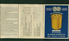 Werbeprospekt Dr. Weisse-Dauerdose Einkochen Sterilisieren 1950er DLG Medaille