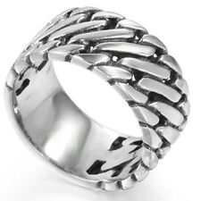 10MM Size 7 8 9 10 11 12 13 14 15 Stainless Steel Biker Cocktail Ring Halloween