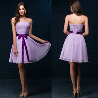 PRINCESS Wedding Evening Ball Gowns Party Bridesmaid Short Prom Cocktail Dresses