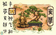 Cross Stitch Kit ~ Dimensions Chinese Asian Bonsai Tree & Buddha #35085 SALE!