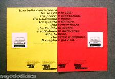O750 - Advertising Pubblicità -1969- FIAT 124 SPECIAL , FIAT 125 SPECIAL