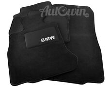 BMW 3 Series E46 1997-2006 Black Floor Mats With BMW Emblem Clips Tailored LHD