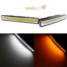 Dual Colors White Amber Switchback DRL COB LED Daytime Running Light Car Truck