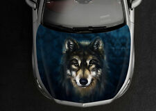 Wolf Car Hood Wrap Full Color Vinyl Sticker Decal Fit Any Car