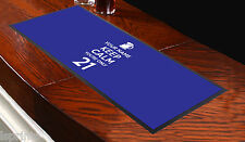 CUSTOMISED BAR RUNNER KEEP CALM YOUR ONLY 21 BLUE IDEAL FOR HOME PARTY PUB