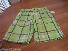Men's 30 casual board swim shorts walk Zoo York trunks surf skate lime $50 NEW