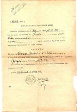 Nomina Prefetto Provincia di Nuoro a Capitano Compagnia Barracellare Gergei 1933